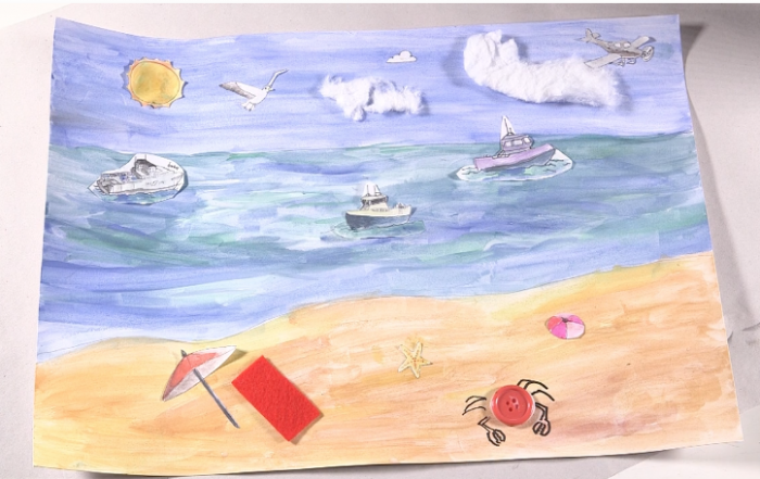collage seaside card