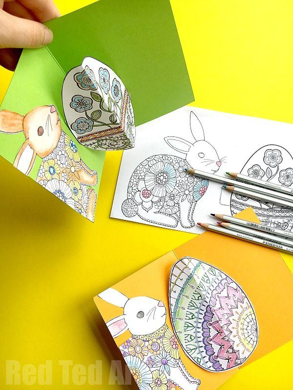 pop-up easter card